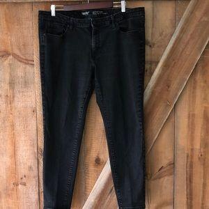 Massimo denim black jeans mid rise skinny 18/S